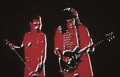Music Paintings - Freddie And Brian by Dan Sproul