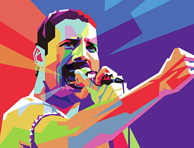 Royalty-Free and Rights-Managed Images - Freddy Mercury EOOOO WPAP by Ahmad Nusyirwan