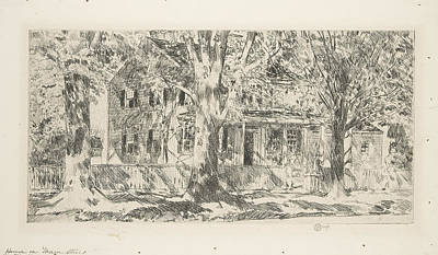 Target Threshold Nature - Frederick Childe Hassam 1859  1935  House on the Main Street Easthampton 1922 by Artistic Rifki