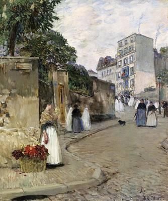 Lucille Ball - Frederick Childe Hassam 1859  1935  Rue Montmartre Paris 1888 by Artistic Rifki