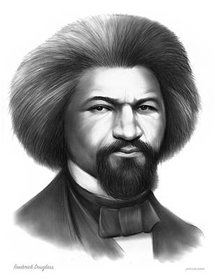 Drawings Royalty Free Images - Frederick Douglass Royalty-Free Image by Greg Joens