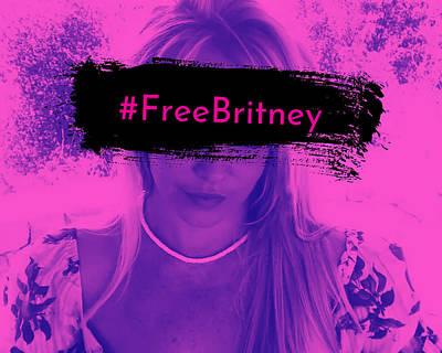 Animals Digital Art - Free Britney by Tiger Baby