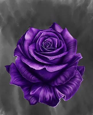 Ceramic Art - Free Rose by Danny Frost