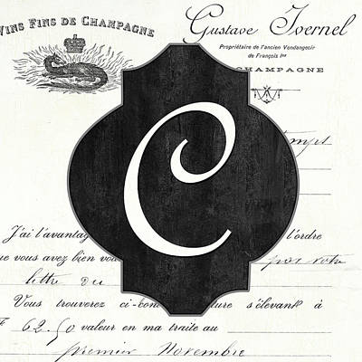 Royalty-Free and Rights-Managed Images - French Champagne Monogram C by Debbie DeWitt