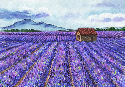 Royalty-Free and Rights-Managed Images - French Countryside Lavender Fields Of Provence by Irina Sztukowski