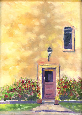 Painting - French Door Shadow by Roger Snell
