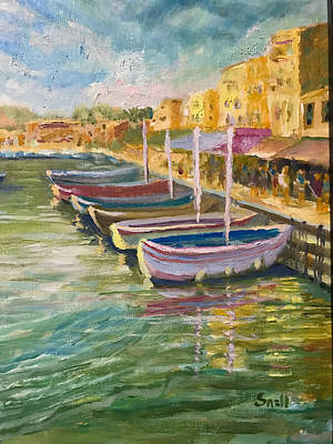 Painting - French Harbor by Roger Snell