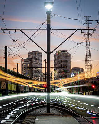 Photograph - French Market Streetcar Lights by Chase This Light Photography