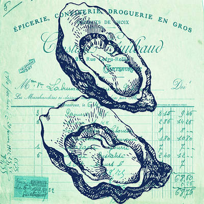 Basketball Patents - French Oysters on the Half Shell by Brandi Fitzgerald