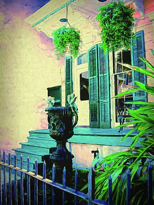 Digital Art - French Quarter Charm by Debbie Smith