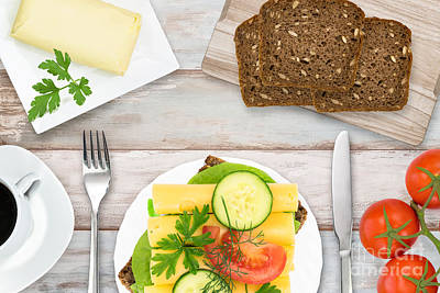 Curated Beach Towels - Fresh and tasty breakfast by Wdnet Studio
