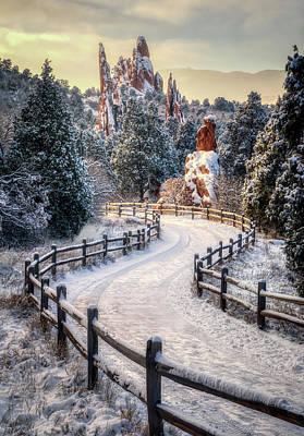 Superhero Ice Pops - Fresh Snow at the Garden of the Gods by David Soldano