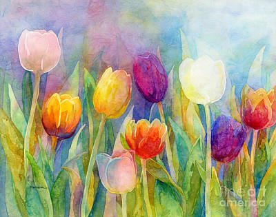 Roaring Red - Fresh Tulips by Hailey E Herrera
