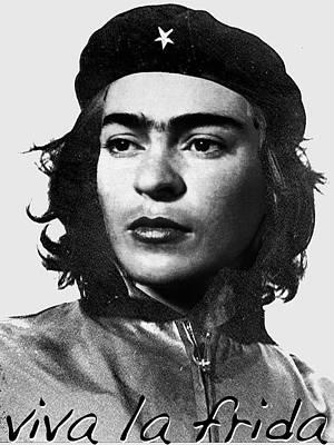 Surrealism Royalty-Free and Rights-Managed Images - Frida Kahlo Che Guevara by Tony Rubino