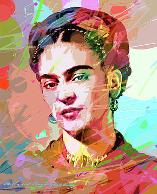 Royalty-Free and Rights-Managed Images - Frida Kahlo by David Lloyd Glover