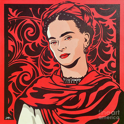 Painting - Frida Kahlo by James Lee