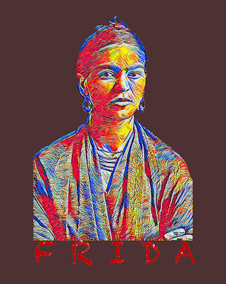 Studio Grafika Zodiac - Frida Kahlo T-Shirt Design by Bellesouth Studio