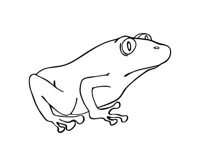 Drawings Royalty Free Images - Frog Royalty-Free Image by Michal Boubin