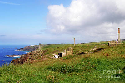 Clouds Rights Managed Images - From Levant to Pendeen Cornwall Royalty-Free Image by Terri Waters