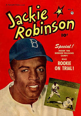 Sports Royalty-Free and Rights-Managed Images - Front cover of Jackie Robinson comic book, issue # 5, 1951. by Joe Vella