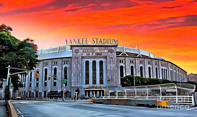 Photograph - Front Gate of Yankee Stadium at Sunset by Nidhin Nishanth