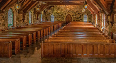 Photograph - Frost Chapel Interior, Berry College by Marcy Wielfaert