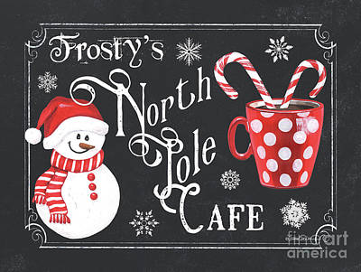 Royalty-Free and Rights-Managed Images - Frostys North Pole Cafe by Debbie DeWitt