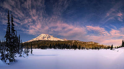 Science Collection - Frozen at Mount Rainier by Dan Mihai