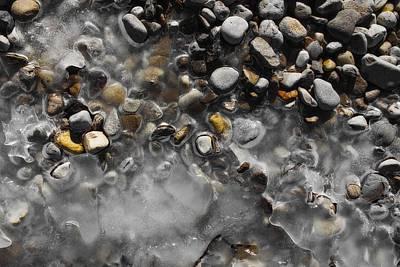 Photograph - Frozen Beach Pebbles by Mark Bear
