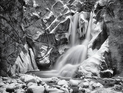 Royalty-Free and Rights-Managed Images - Frozen Boulder Falls by Darren White