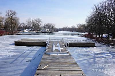 Anchor Down - Frozen Dock by Maria Faria Rodrigues