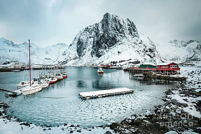 Royalty-Free and Rights-Managed Images - Frozen Harbor by Evelina Kremsdorf