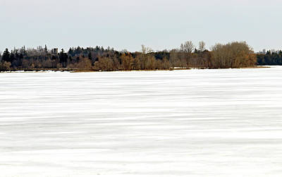 Movies Star Paintings - Frozen Snow Covered Lake by Debbie Oppermann