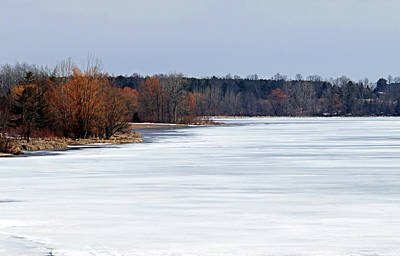 Bath Time - Frozen Snow Covered Lake I by Debbie Oppermann
