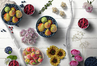 Abstract Graphics - Fruit Berries Flowers The Decorative Way by Johanna Hurmerinta