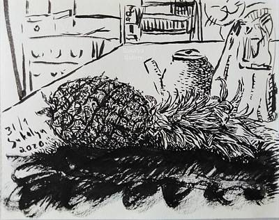 Drawing - Fruit On A Pile Of Cloth by Sukalya Chearanantana