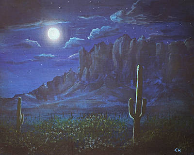 Design Turnpike Books - Full Moon over the Superstition Mountains, Arizona by Chance Kafka