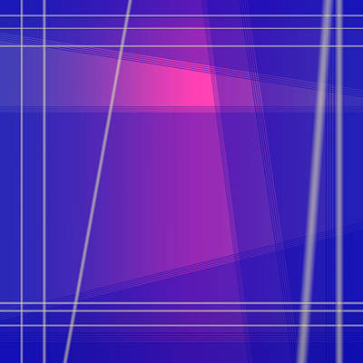 Royalty-Free and Rights-Managed Images - Fun with Colors Abstract Crossing Lines 1 by Jenny Rainbow