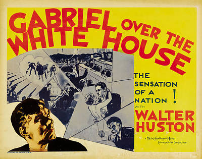 Royalty-Free and Rights-Managed Images - Gabriel Over the White House - 1933 by Stars on Art