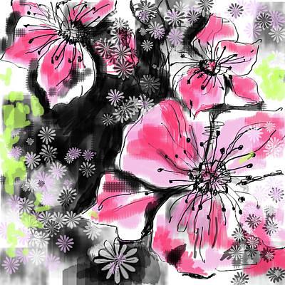 Digital Art - Garden in bloom by Marianna MO Warr