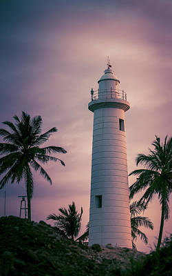 Mannequin Dresses Rights Managed Images - Galle Lighthouse evening sunset colors photography Royalty-Free Image by Nilanka Sampath