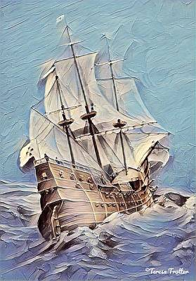 Truck Art - Galleon Sailing The Seas by Teresa Trotter
