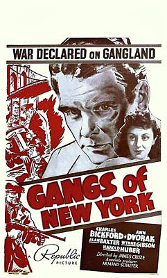 Royalty-Free and Rights-Managed Images - Gangs of New York - 1938 by Stars on Art