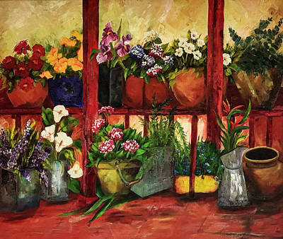 Abstract Graphics - Garden Flowers by Maria Coulson