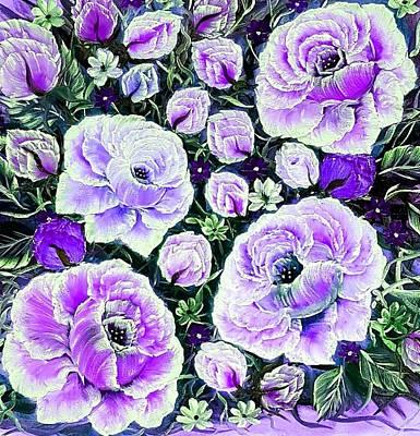 American Milestones - Garden love purple closer  by Angela Whitehouse