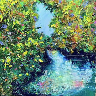 Painting - Garden Pond  by Julia S Powell