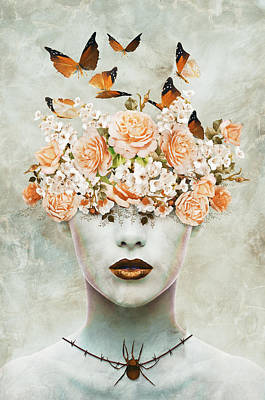 Surrealism Digital Art Rights Managed Images - Garden portrait Royalty-Free Image by Mihaela Pater