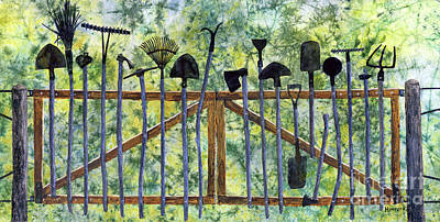 Caravaggio - Garden Tools-pastel colors by Hailey E Herrera