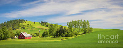Royalty-Free and Rights-Managed Images - Garfield Barn Panorama by Inge Johnsson