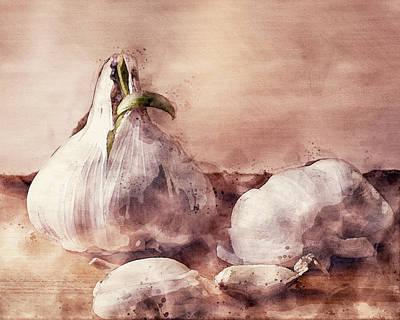 Bringing The Outdoors In - Garlic Still Life by Bob Orsillo